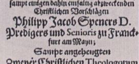 A Pia Desideria e a Reforma de Spener